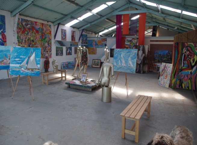 Big Art All Summer Exhbition is at Wight Marine, Embankment Rd, Bembridge, Isle of Wight. PO35 Picture taken 4th June 2015. Gallery is forever being altered throughout the summer with new artworks, an ArtCar and new artists ,