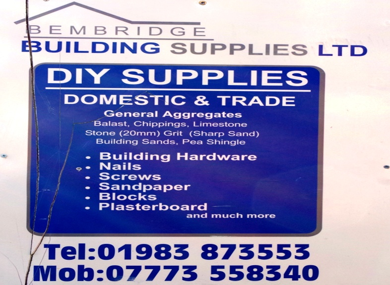 Bembridge Building Supplies. Supplying all these items