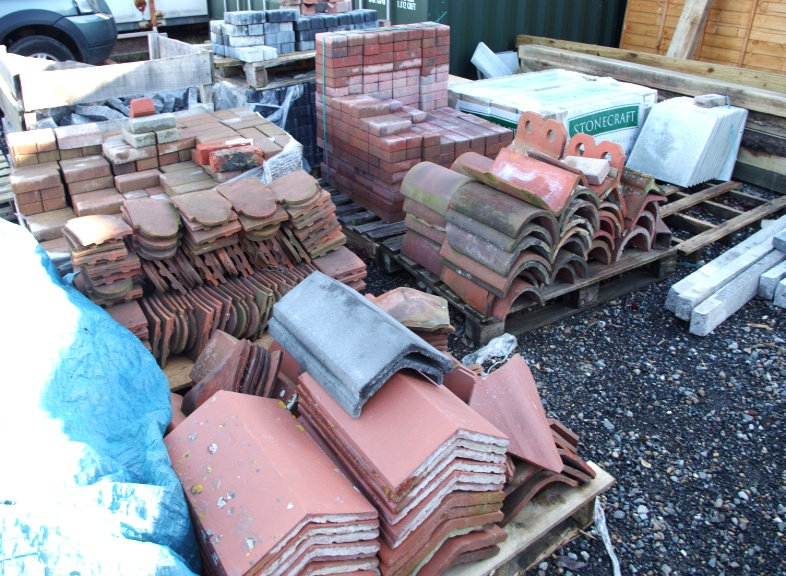 Bembridge Building Supplies  selection of eclaimed materials including decorative edgings nad York Handmade Bricks