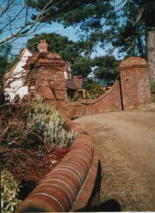 York Handmade Brick copings and 65mm Hambleton, Galtres blend Entrance.Nr St Helier, Jersey