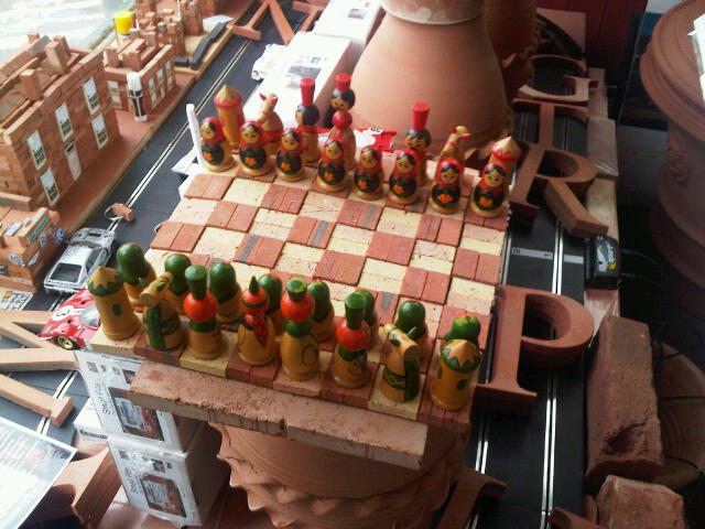 Terracotta Mini Brick Chess Set. board only. �15.00