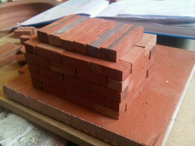 Miniature Clay Clay Brick Building Kits