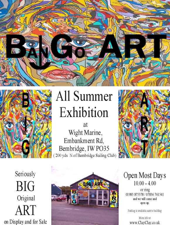 Big Art All Summer Exhbition is at Wight Marine, Embankment Rd, Bembridge, Isle of Wight. Picture taken 23rd May 2015. Gallery is forwever being altered throughout the summer with new artworks, an ArtCar and new artists