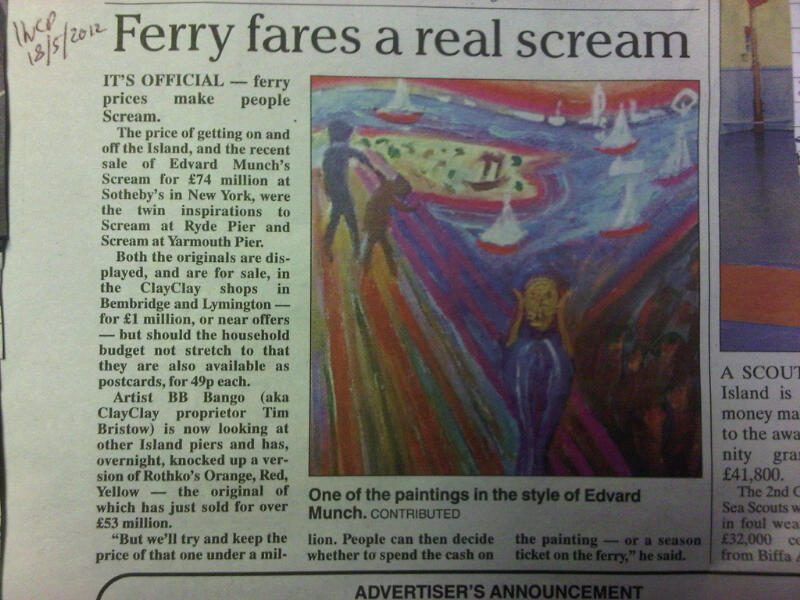 Isle of wight County Press Article 18th May 2012