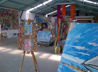 Big Art All Summer Exhbition is at Wight Marine, Embankment Rd, Bembridge, Isle of Wight. PO35 Picture taken 11th June 2015. Gallery is forever being altered throughout the summer with new artworks, an ArtCar and new artists ,