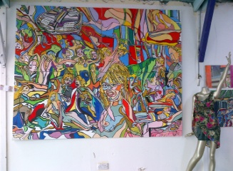 'Party on 4 canvases 8ft by 6ft See below for further details