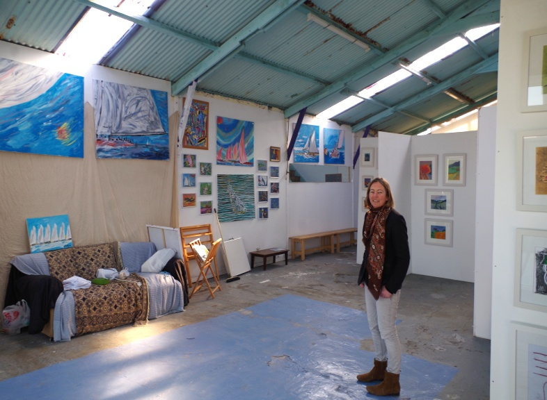 Picture taken 14th March 2016 with holly Maslen. Big Art All Summer 2016 Exhbition Now Organised by Artist Holly Maslen with 23 Artists displaying. At South End, Emabankment Rd, Bembridge Harbour, Isle of Wight PO35