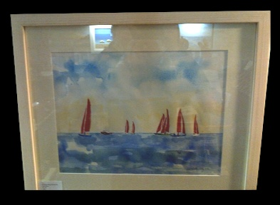 "The late Peter Donnelly 'Redwings'  17*12"" Watercolour on paper. Framed £260. On Display Bembridge Shop"