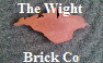 The Wight Brick Company. Manufacturing a very limited range of mini handmade and sometimes full size bricks from Isle of Wight clay and burnt in a kiln in Seaview. This picture shows aTerracotta Outline of the Isle of Wight