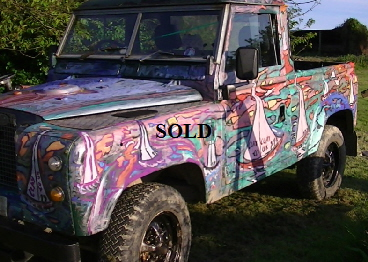 'Art on Landrover LH' by BB Bango.  SOLD Landrover 2.5 Diesel 1969