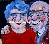 'Devoted Couple' by Kate Gooden Acrylic Original on box canvas 20*20cm £40.