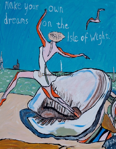 'Dreams on the Isle of wight' Acrylic on canvas 18 by 24 inch   by BB Bango   Donated to charity