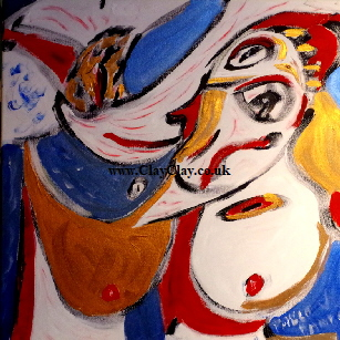 'After Picasso' Acrylic on canvas 24 by 24 inch   by Pablo Bango   £100