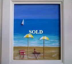 3 dimensional painting by Mike Miller Seaview Based Artist in many mediums onto canvas, card and terracotta. On display in Bembridge shop £150