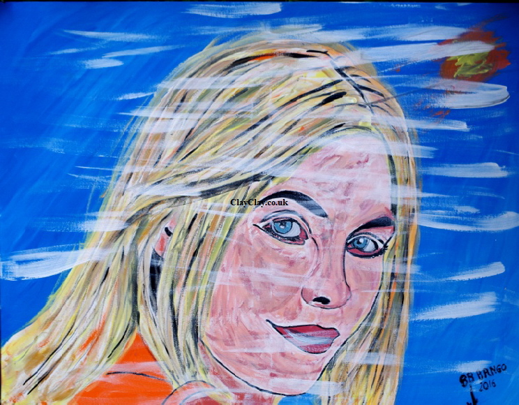 'The blonde' by BB Bango 100 by 80 cm Acrylic on canvas £150 This picture painted September 2016