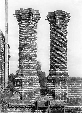 The fashion for chimneys in the Tudor period was for elaborate decoration using both cut and purpose-moulded brick. This example of spiral decoration at Layer Marney Hall is typical.  Click on photo for link to Nathaniel Lloyd , Brick Author in the 1920s and 30s, on 'Brick History' page.