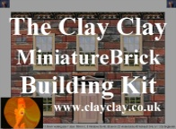 ClayClay Home page for Miniature Brick Building Kits and other clay related items including Art
