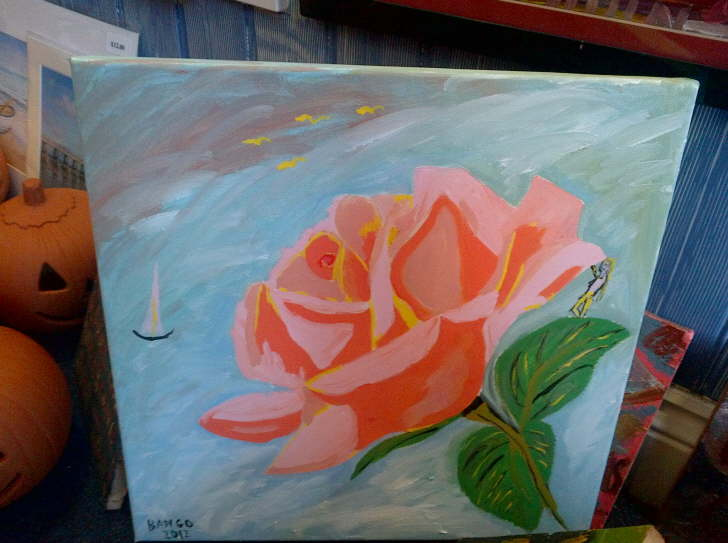 Acrylic on canvas Rose 400@400mm £35