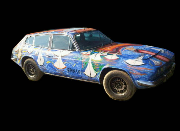 Art Car Acrylic on 1972 Reliant Scimitar £1000