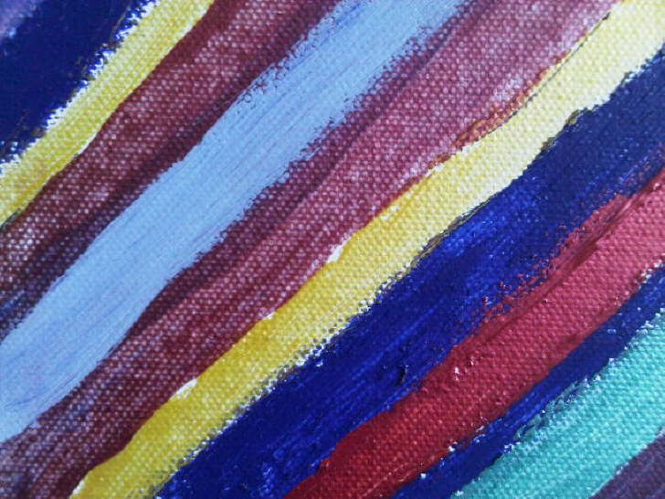 Acrylic on canvas Stripes 130*130mm £10
