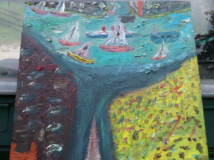 Oil on canvas Solent 2 SOLD