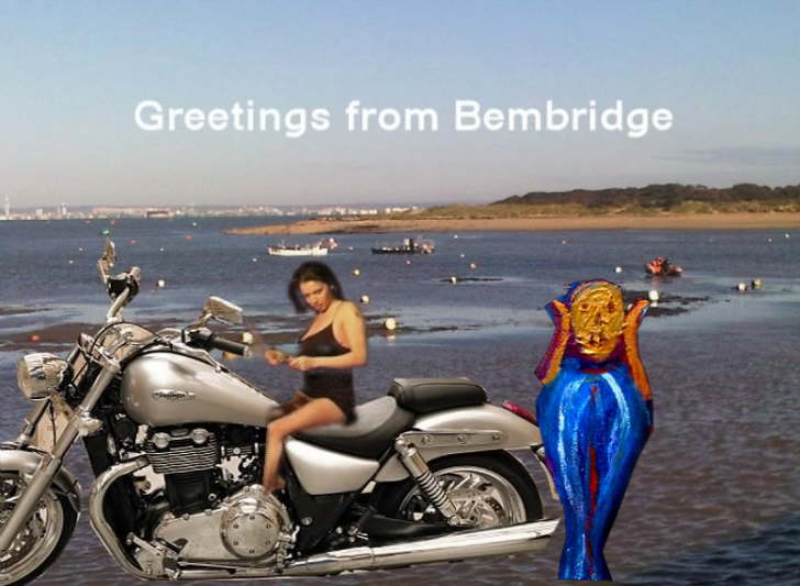 Greetings from Bembridge postcard 45p