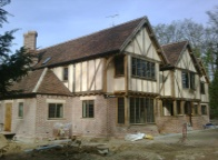 A35 York Handmade Brick 65mm Thirkleby Blend used on this brand new house by Oakwrights, Moleswood, Nr Hertford