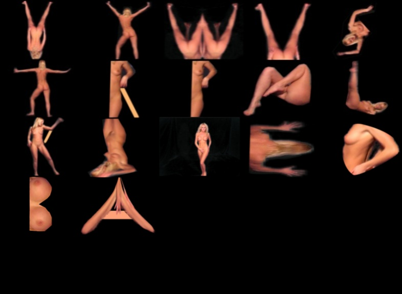 'All Letters study for a Nude Alphabet' by BB Bango.   Up to 25 Letters or numbers put onto a postcard £5 and E mailed back to you.